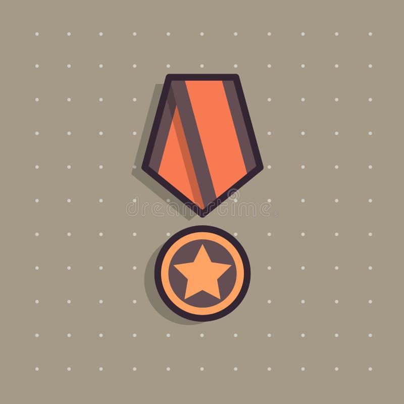 Ikona jawny pamiątkowy nagroda medal ilustracji