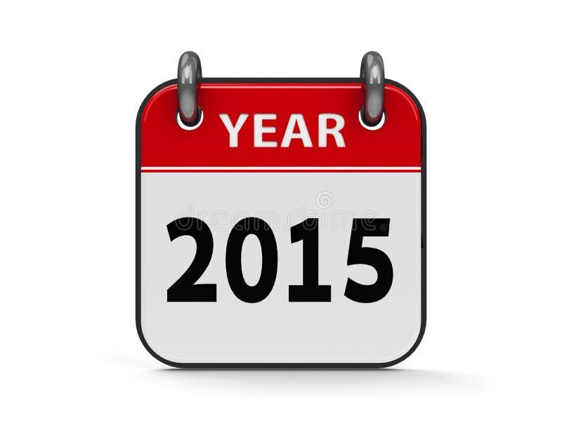 Ikona kalendarz 2015 rok royalty ilustracja