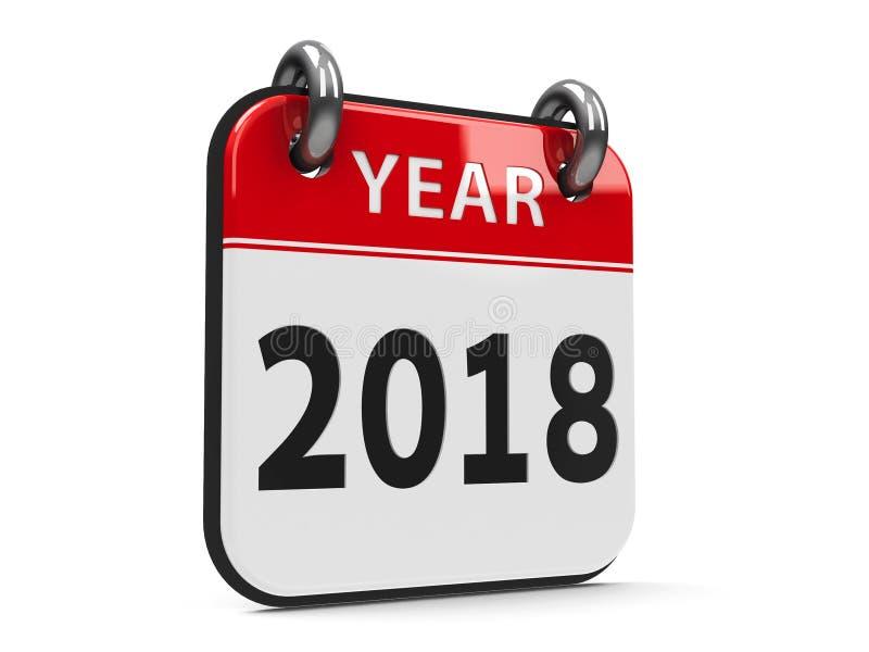 Ikona kalendarz 2018 rok 2 ilustracji