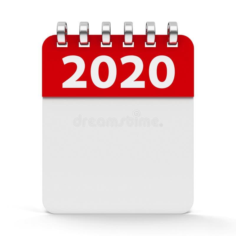Ikona kalendarza spirala 2020 rok royalty ilustracja