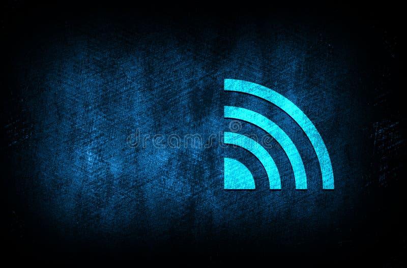Ikona kanału informacyjnego RSS abstrakcyjny niebieski tło ilustracja cyfrowa koncepcja projektu tekstury cyfrowej fotografia royalty free