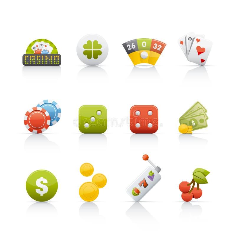 ikona kasynowy set ilustracja wektor