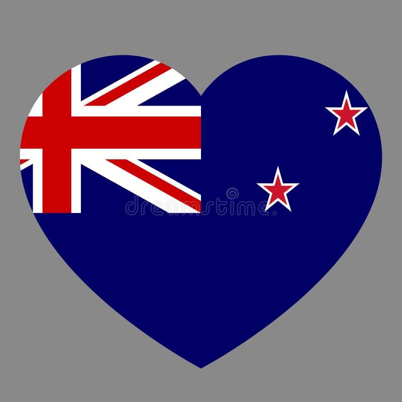 Ikona kierowy symbol miłość na tło flaga państowowa stanie royalty ilustracja