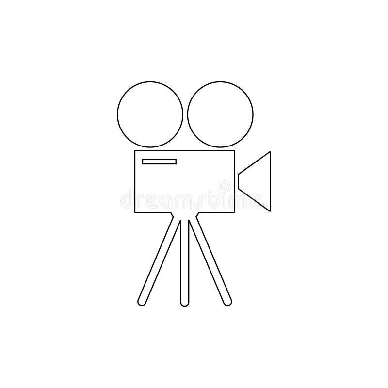 ikona kino Medialna element ikona Element środki dla mobilnych pojęcia i sieci apps ilustracyjnych Cienieje kreskową ikonę dla st ilustracji
