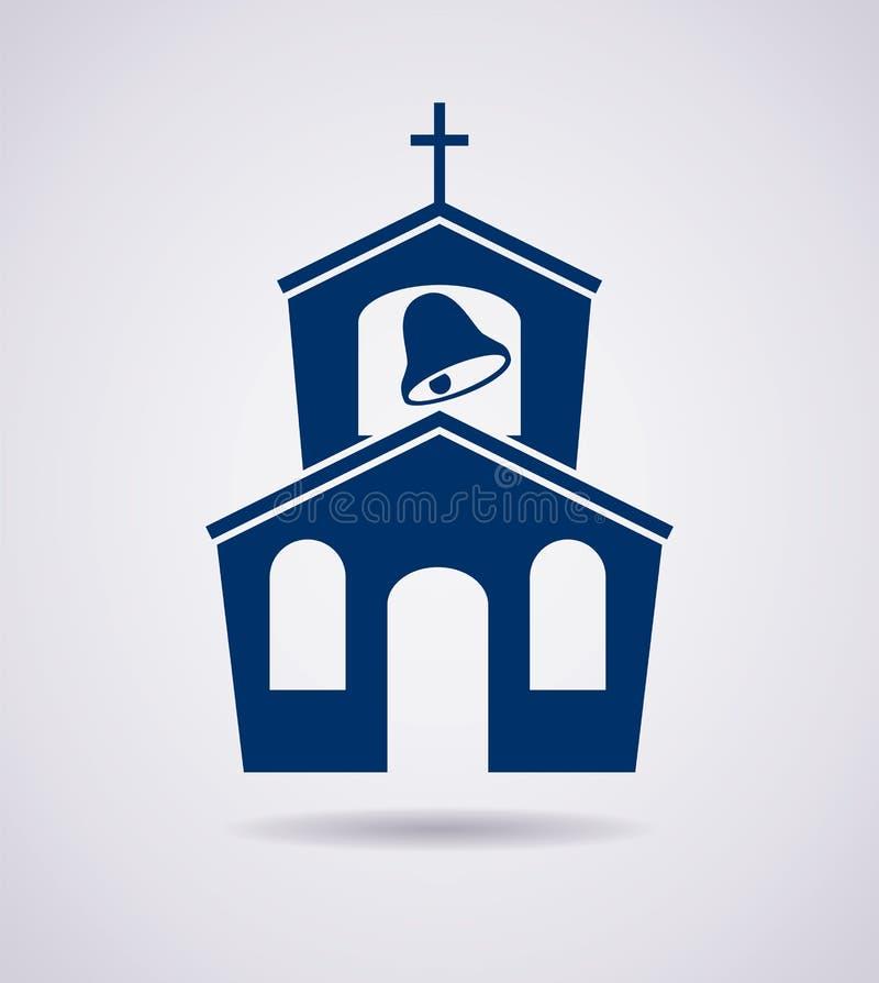 Ikona kościelny budynek ilustracji