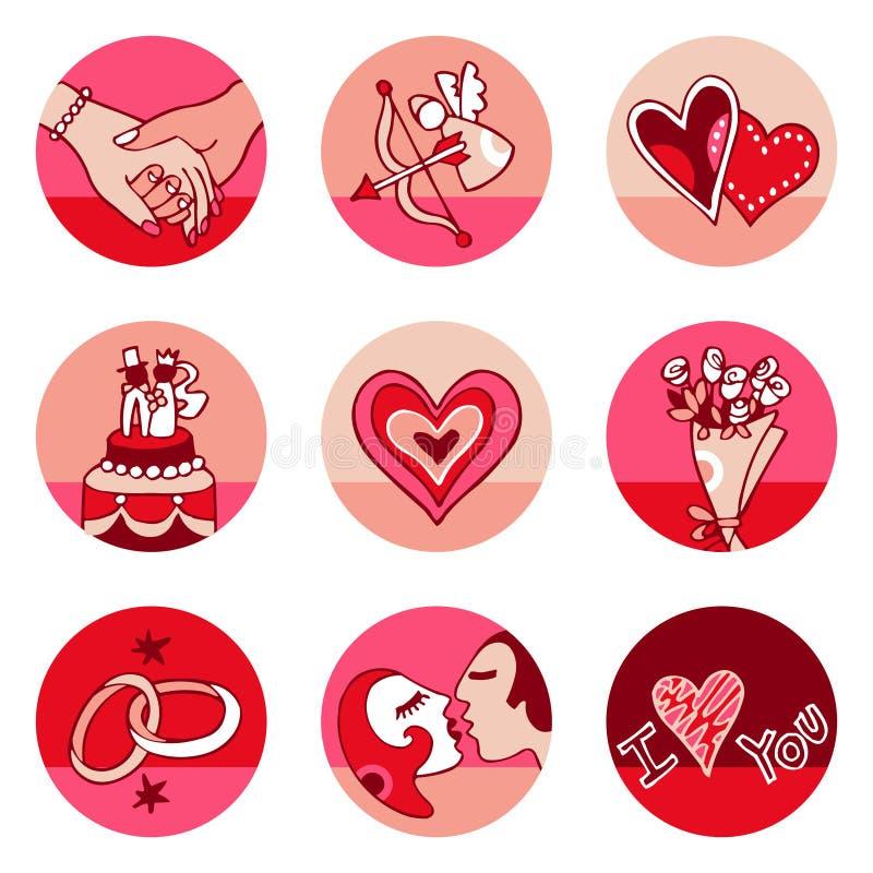 ikona kochanków ilustracji