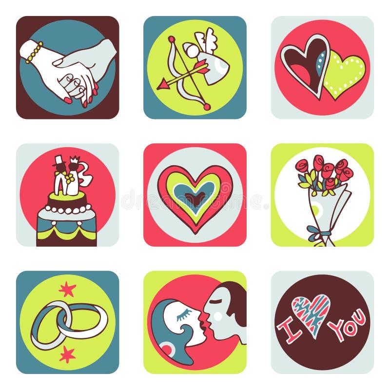 ikona kochanków ilustracja wektor