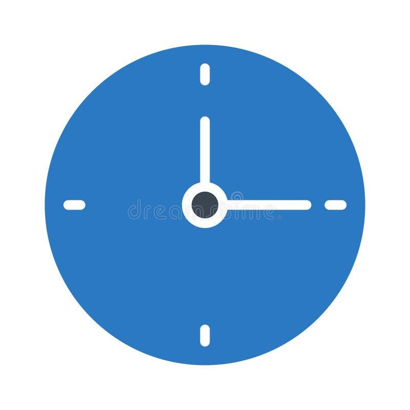 Ikona koloru glifu zegara zdjęcie royalty free