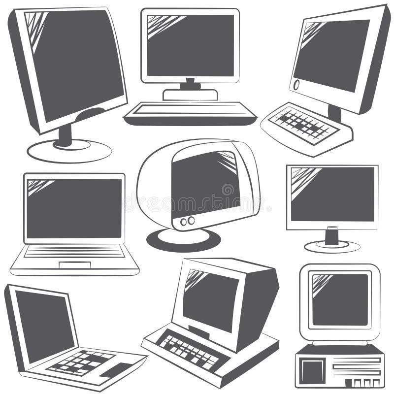 ikona komputerowy podpisany świat internetu royalty ilustracja