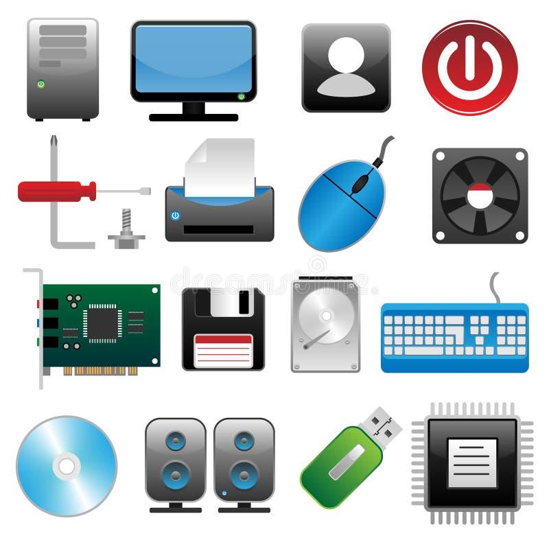 ikona komputerowy set royalty ilustracja