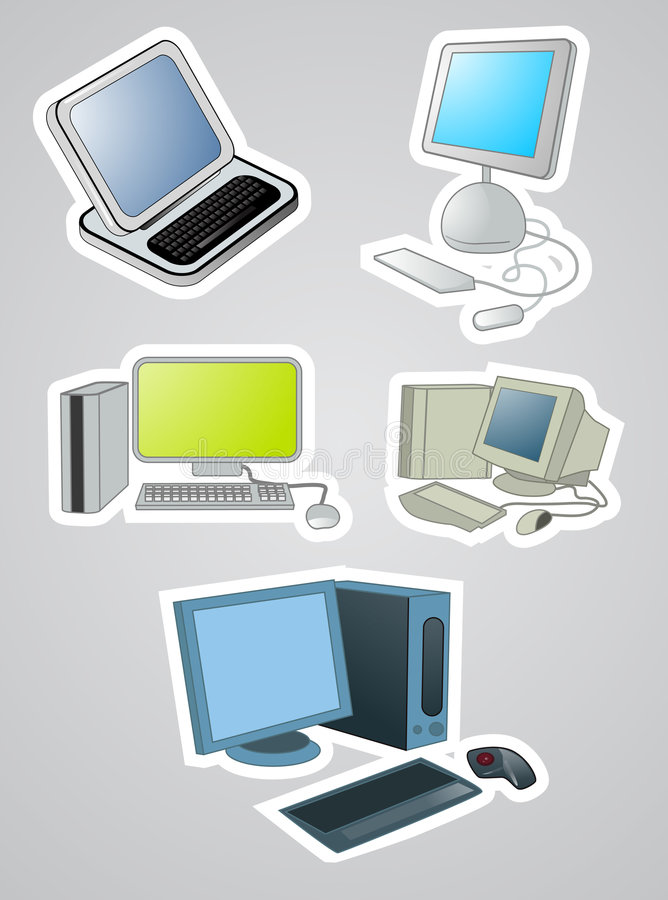 ikona komputerowy wektor ilustracja wektor
