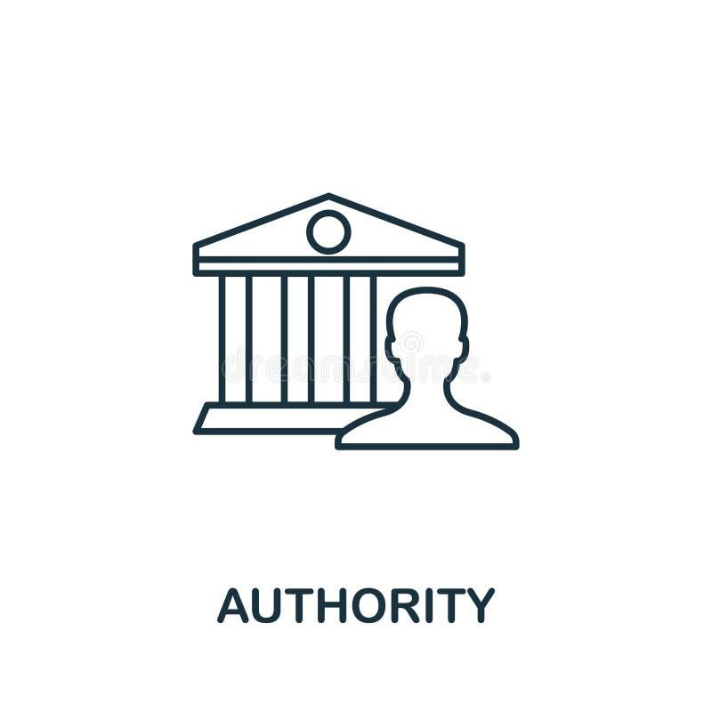 Ikona konspektu urzędu Element koncepcji cienkiej linii z kolekcji ikon zawartości Ikona Autoryzacja dla aplikacji mobilnych i si royalty ilustracja