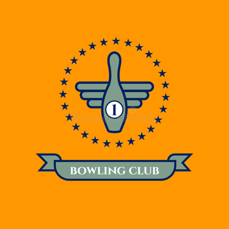 Ikona kręgli klub royalty ilustracja