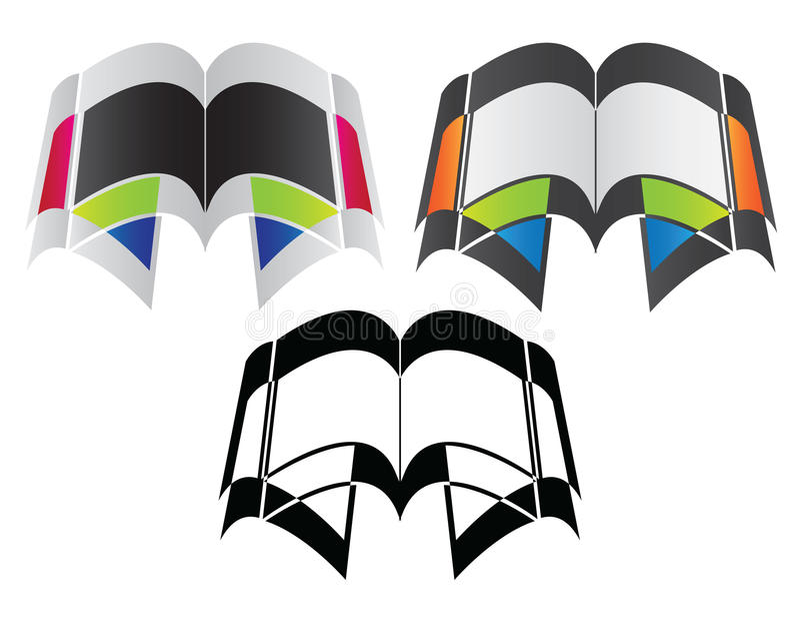 ikona książkowy logo royalty ilustracja