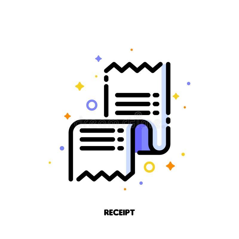 Ikona kwitu, kocowania ślizganie dla lub Mieszkanie wype?niaj?cy konturu styl Piksel perfect 64x64 Editable uderzenie ilustracji