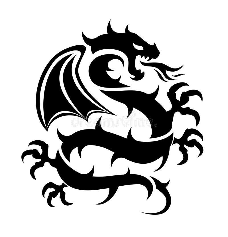 Ikona latający smok royalty ilustracja