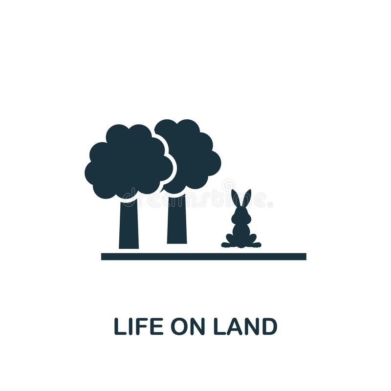 Ikona Life On Land Tworzenie elementów z kolekcji ikon społeczności Pixel Ideal Life On Land (Idealne życie na lądzie), ikona pro royalty ilustracja
