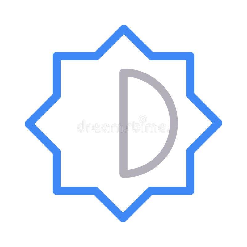 Ikona linii koloru wektora jasności royalty ilustracja