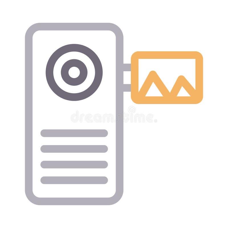 Ikona linii koloru wektora kamery zdjęcie stock
