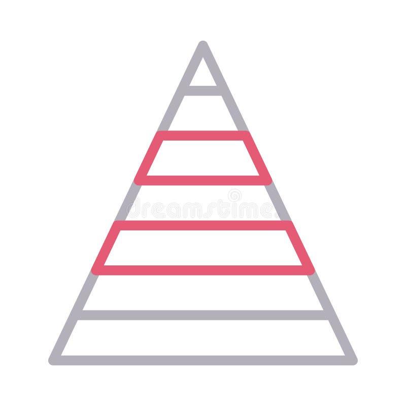 Ikona linii koloru wektora wykresu fotografia stock