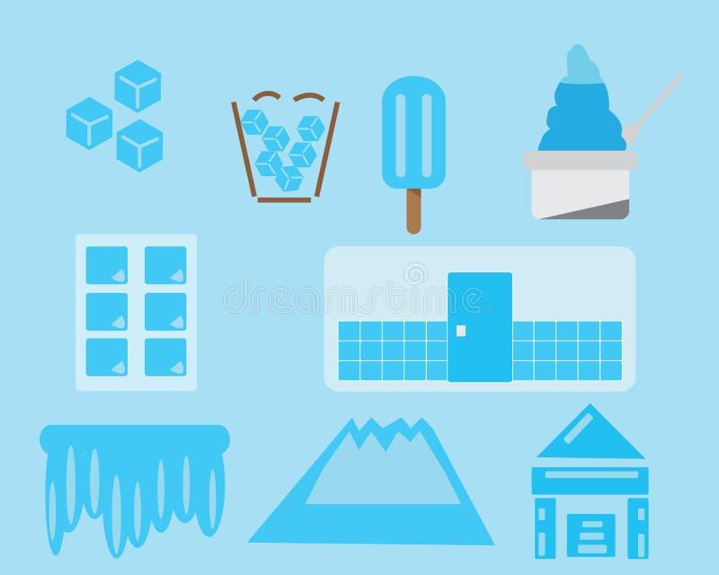 Ikona lodowy wektor royalty ilustracja