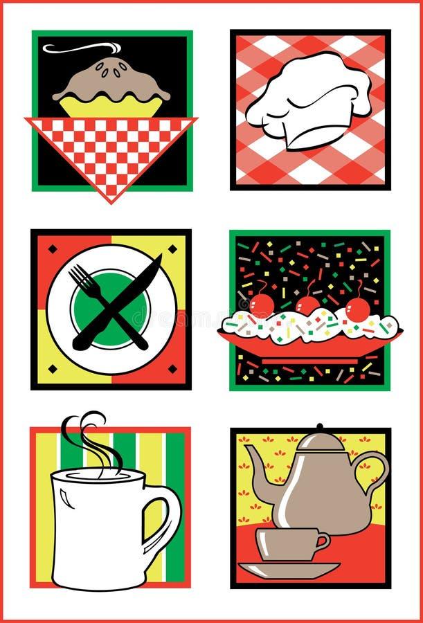 ikona logo żywności usług royalty ilustracja