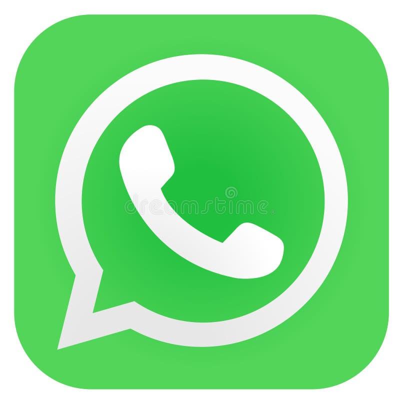 Ikona Logo Whatsapp W Kolorze Kwadrat O Okrągłych Krawędziach Fotografia  Editorial - Ilustracja złożonej z drukowanie, ciosowy: 176485927