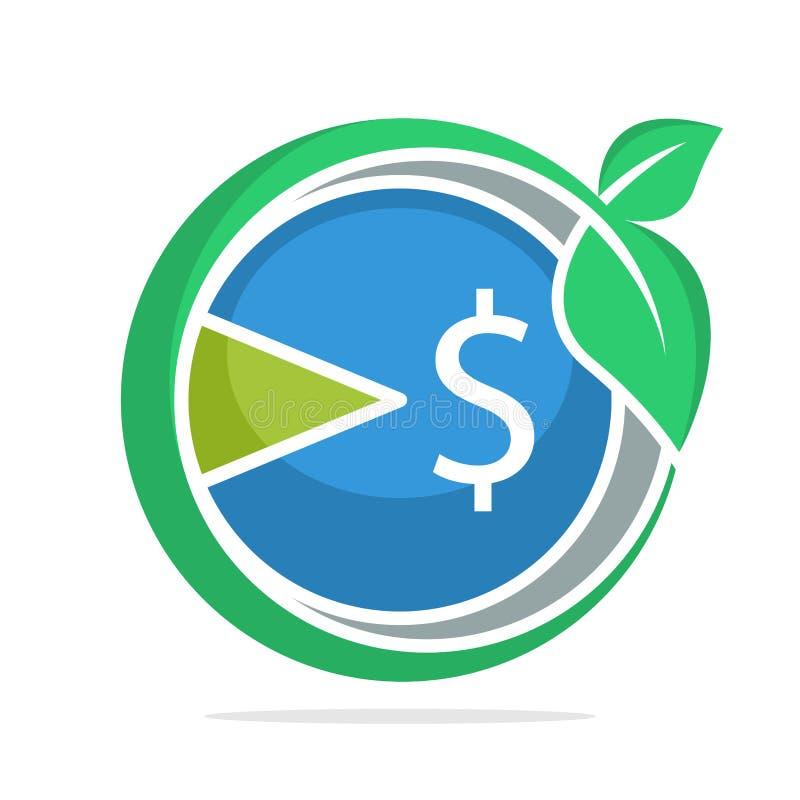 Ikona logo z pojęciem rozwój podatku przyrost royalty ilustracja
