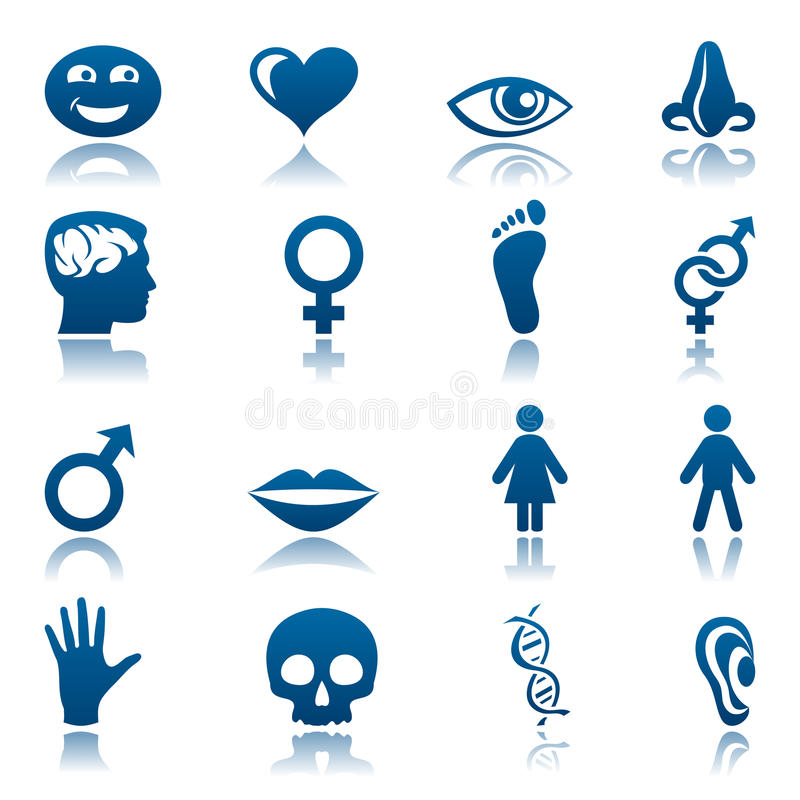 ikona ludzki set ilustracja wektor