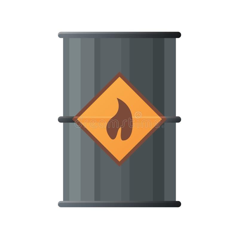 ikona lufowy czarny olej Płaska ilustracja czarna nafcianej baryłki ikona ilustracji