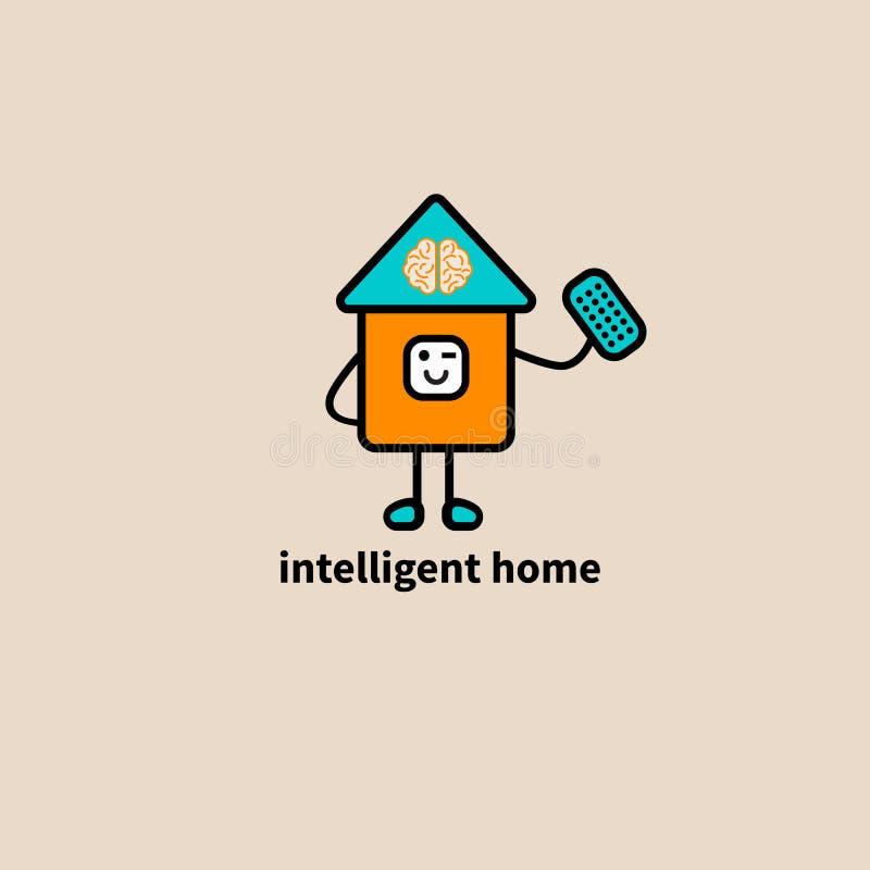 Ikona mądrze dom ilustracja wektor