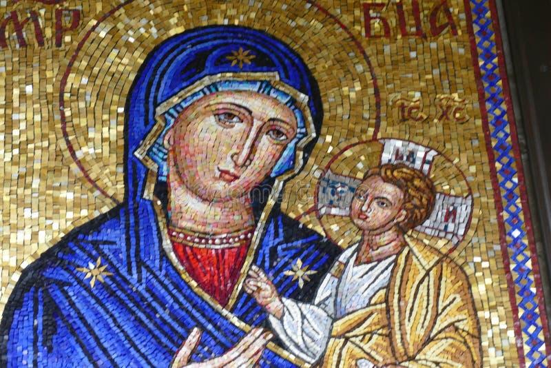 Ikona madonna i Chrystus dziecko zdjęcia royalty free