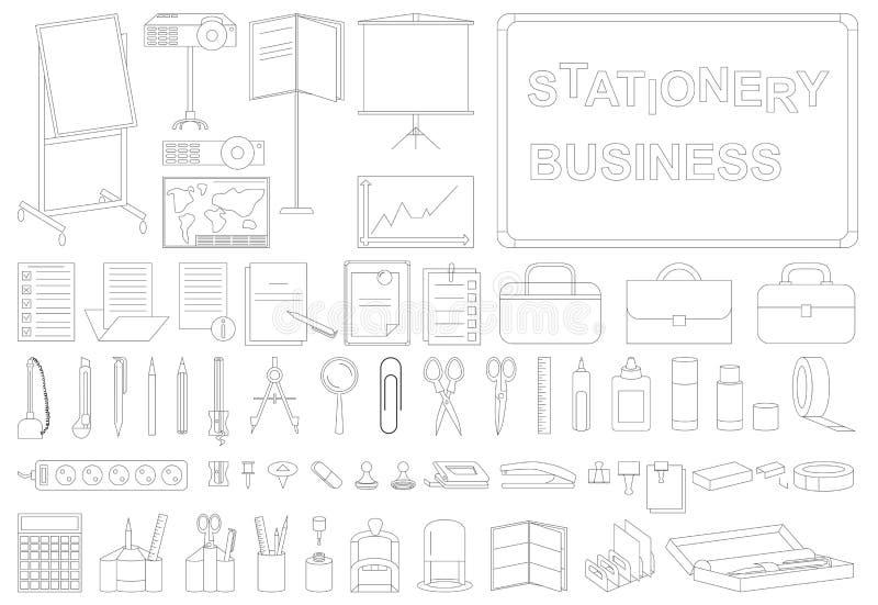 Ikona materiały biznesowa linia ilustracja wektor