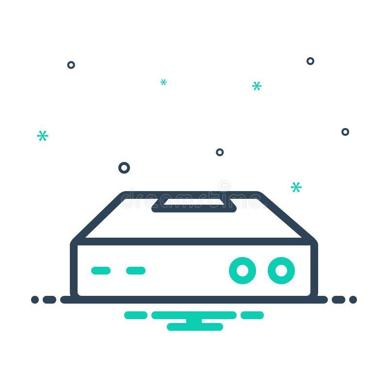 Ikona mieszana dla programu Netdisk, bazy danych i pamięci masowej ilustracja wektor