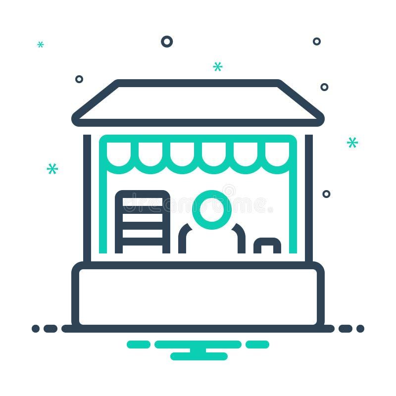 ikona mieszana dla Retail Place, butique i buy ilustracja wektor