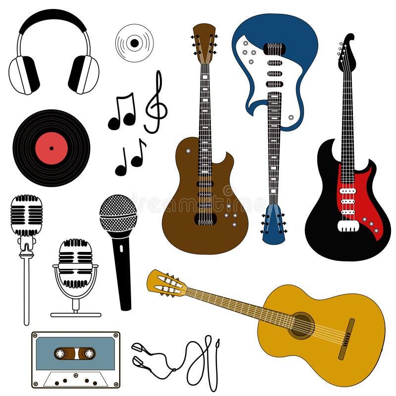 Ikona muzykalny wyposażenie ilustracja wektor