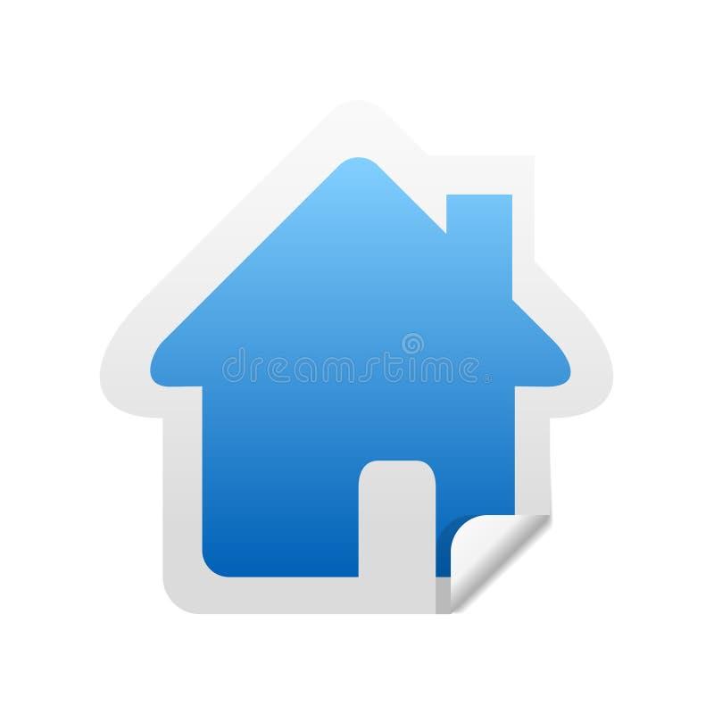 ikona naklejki wizowej w domu royalty ilustracja