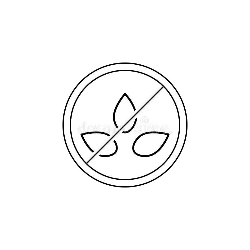 100 ikona naturalna Element GMA ikona dla mobilnych pojęcia i sieci apps Cienki 100% linii naturalna ikona może używać dla sieci  royalty ilustracja