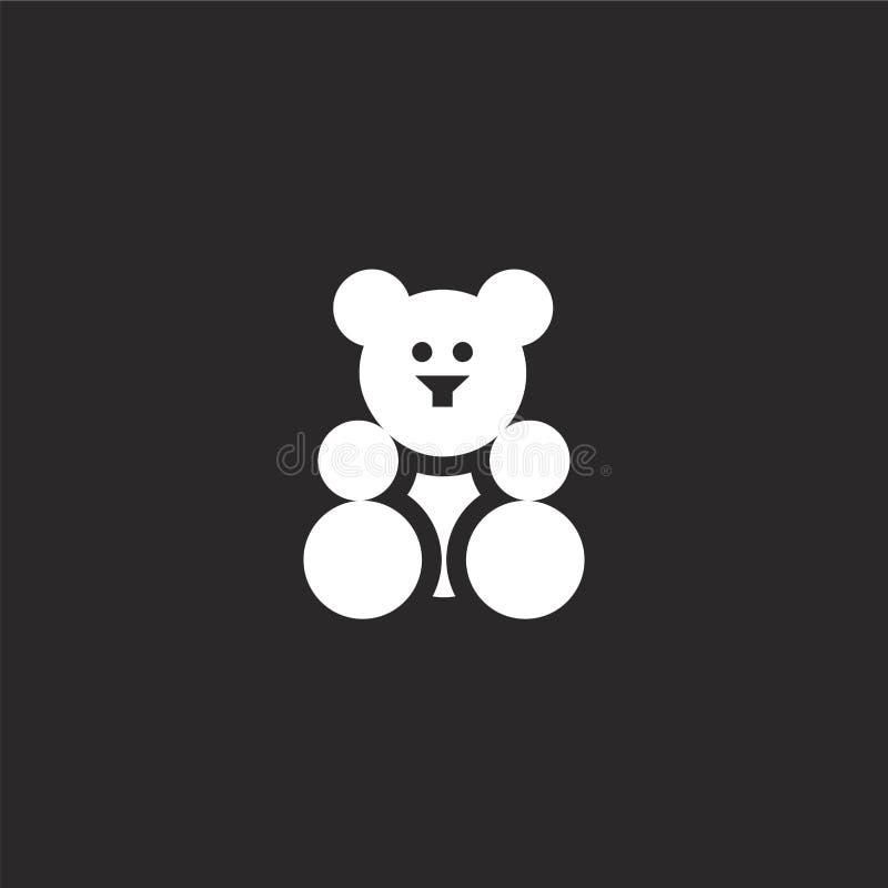 ikona niedźwiedzia gumowego. Ikona wypełnionego niedźwiedzia do projektowania witryn internetowych i urządzeń przenośnych, t ilustracja wektor