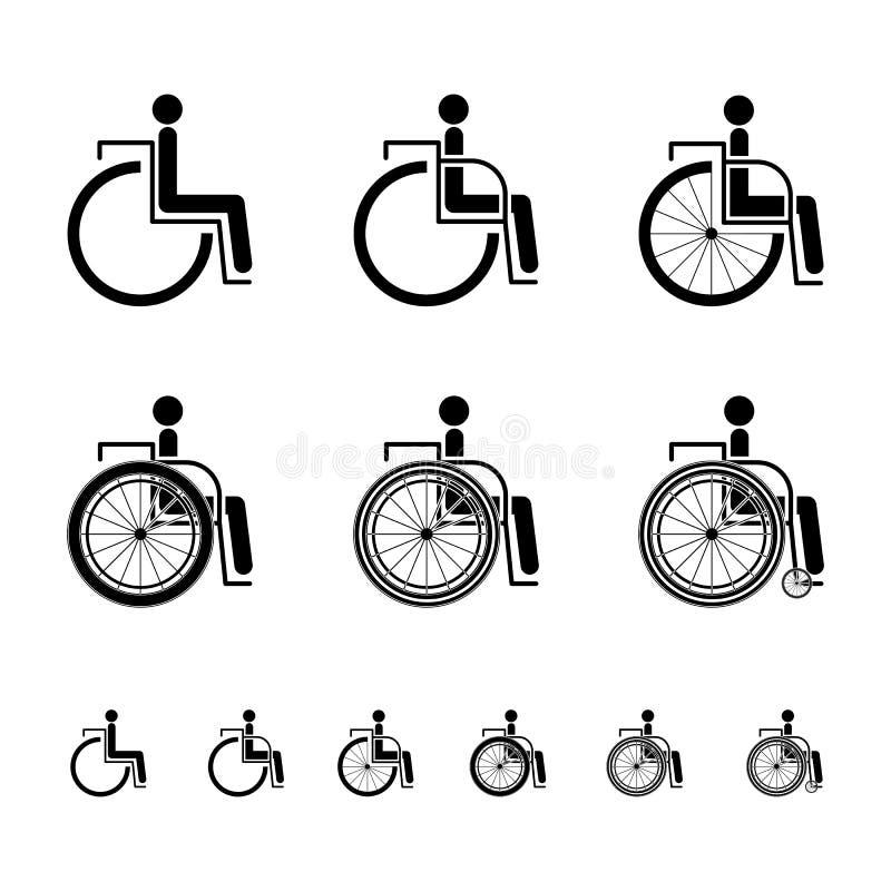 Download Ikona niepełnosprawny znak ilustracja wektor. Ilustracja złożonej z pomoc - 53776765