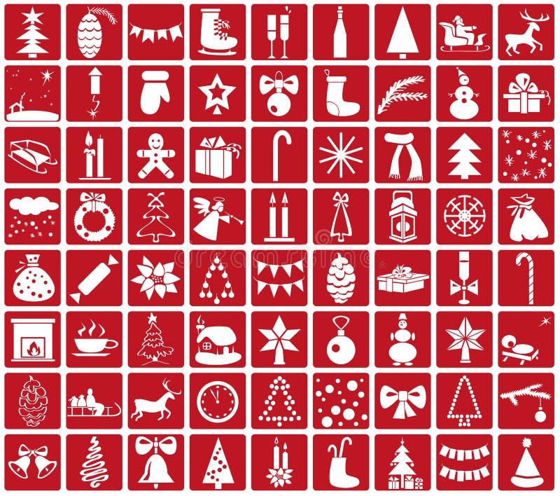 Ikona nowy rok i boże narodzenia royalty ilustracja