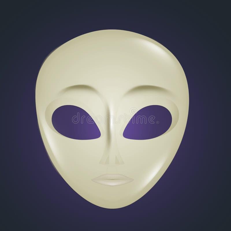 Ikona obcy maska ilustracji