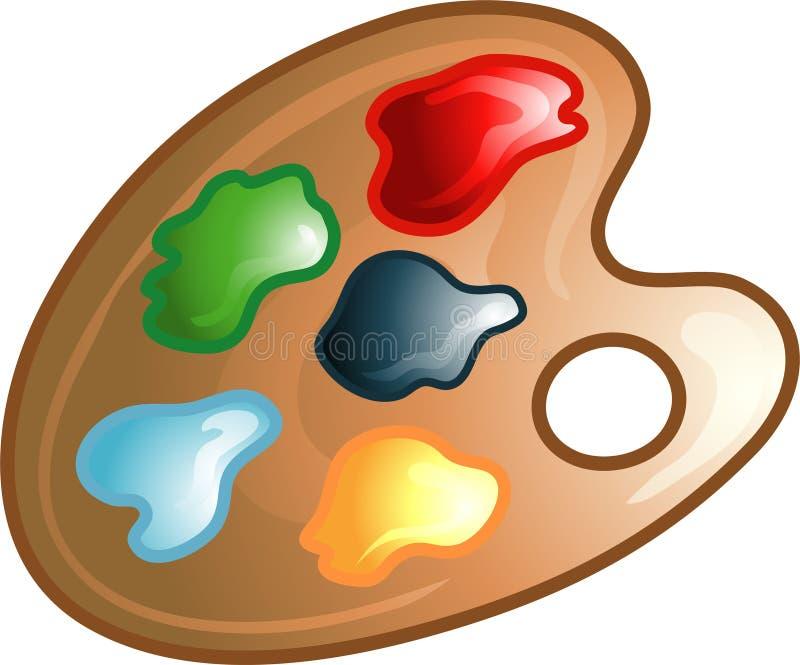 ikona obrazu palety symbol ilustracja wektor