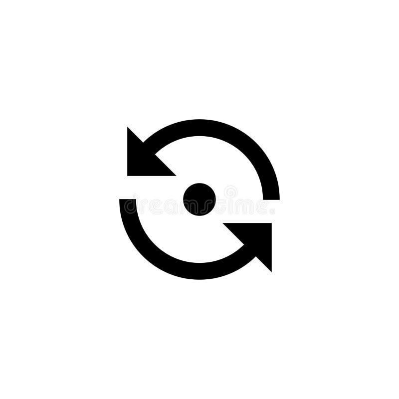 ikona odświeża Sieci aktualizacji znak ilustracji