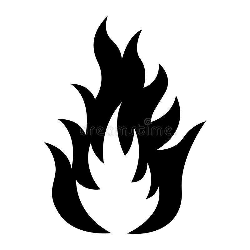 Ikona ogień ilustracji