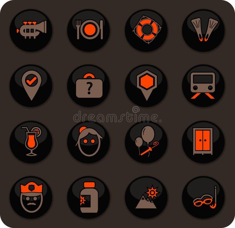 ikona określonych podróży ilustracji