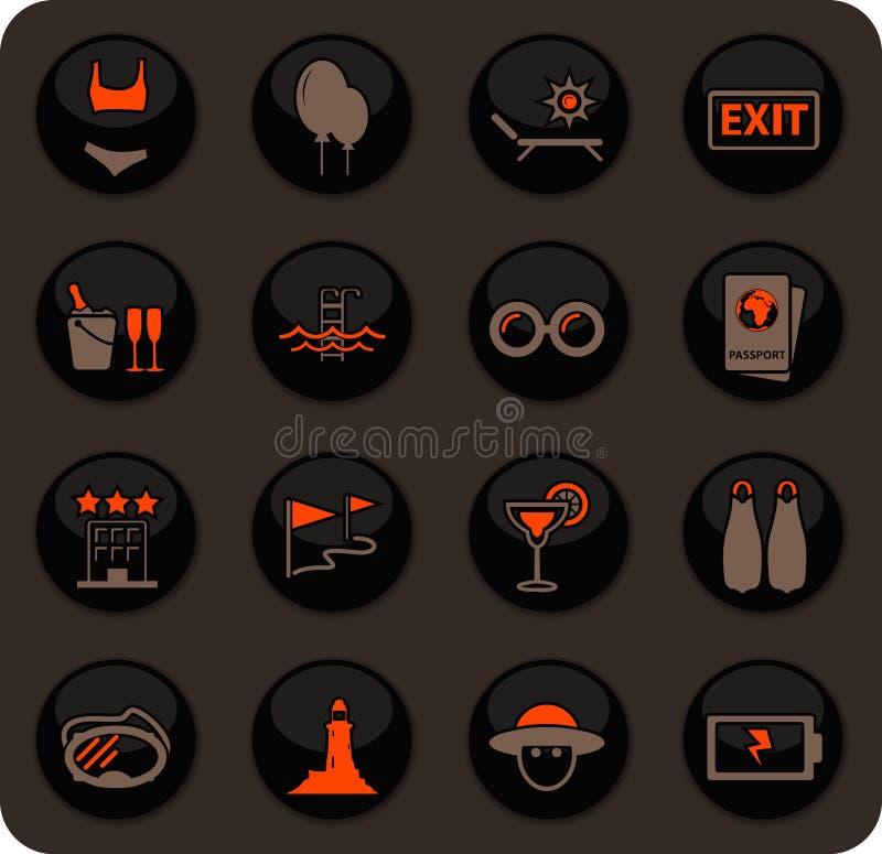 ikona określonych podróży ilustracja wektor