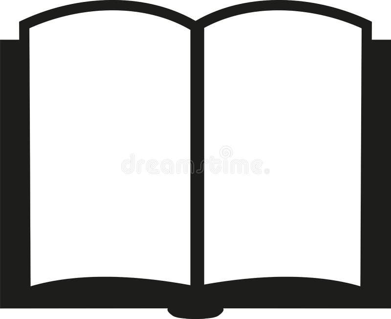 Ikona otwarta książka royalty ilustracja