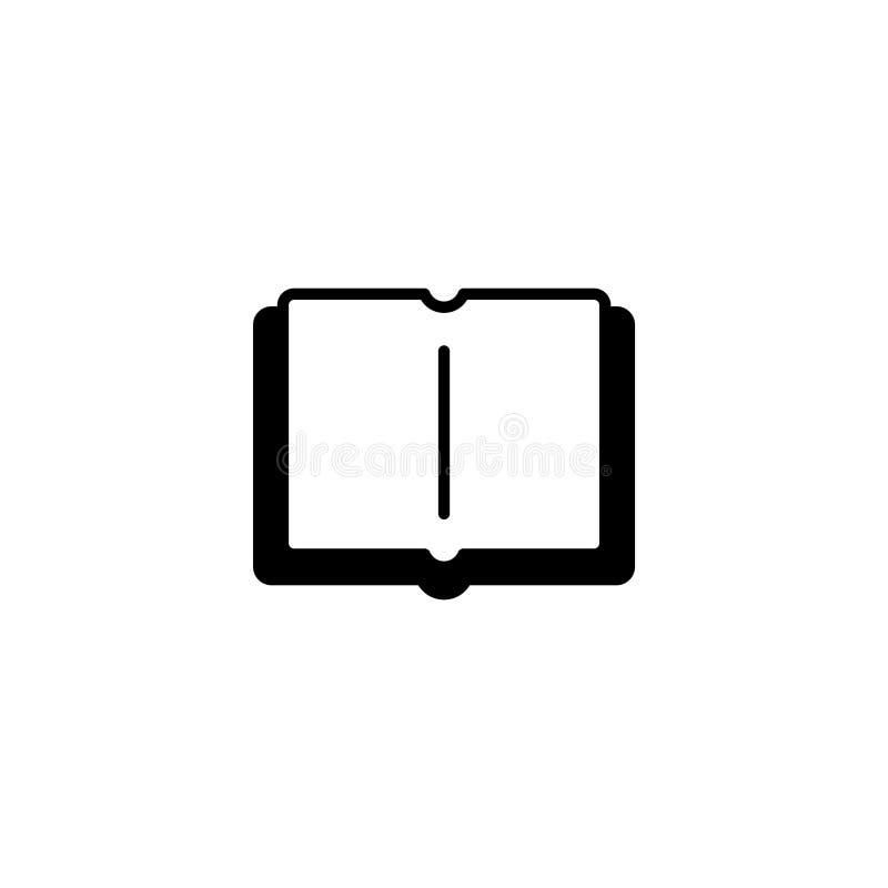 ikona Otwarty książkowy symbolu znak royalty ilustracja