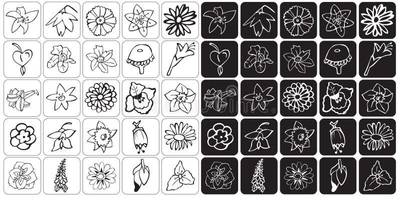 Ikona pączka kwiaty ilustracji